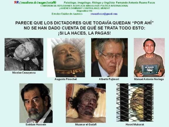FERNANDO ANTONIO RUANO FAXAS. LIDERAZGO NEGATIVO. LÍDERES NEGATIVOS, DICTADORES, CORRUPTOS, ASESINOS... SI LA HACES, LA PAGAS