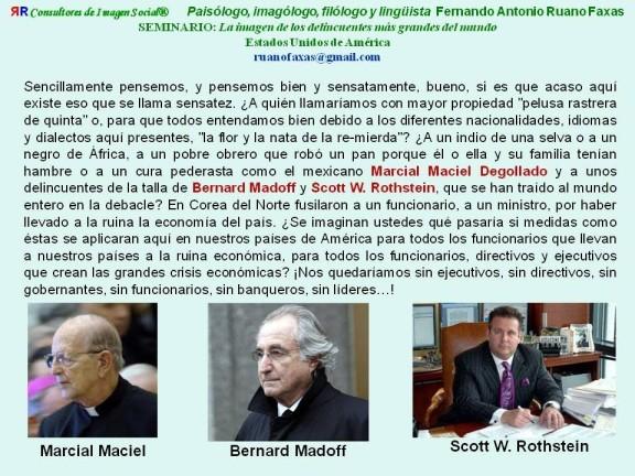 FERNANDO ANTONIO RUANO FAXAS. MARCIAL MACIEL Y LOS LEGIONARIOS DE CRISTO ENTRE LOS DELINCUENTES MÁS GRANDES DE LA ACTUALIDAD
