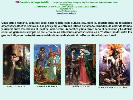 FERNANDO ANTONIO RUANO FAXAS. ROMEO Y JULIETA, TRISTÁN E ISOLDA, POPOCATÉPETL E ÍZTACCÍHUATL