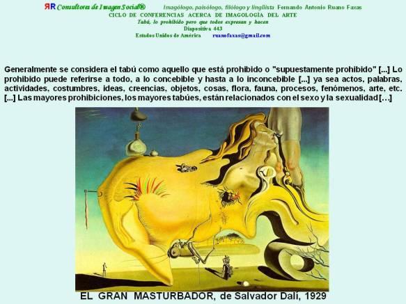 FERNANDO ANTONIO RUANO FAXAS. TABÚ, TABOO. EL GRAN MASTURBADOR, DALÍ