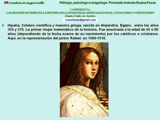 FERNANDO ANTONIO RUANO FAXAS. HIPATIA DE ALEJANDRÍA, HYPATIA, ГИПАТИЯ...