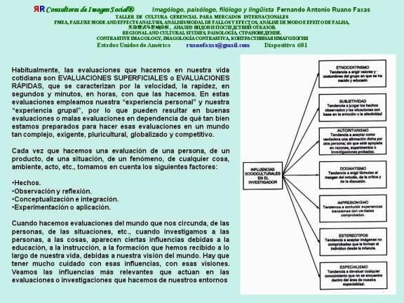 FERNANDO ANTONIO RUANO FAXAS. FMEA, EVALUACIONES DEL MUNDO. CORRUPCIÓN, MALA EDUCACIÓN, SEGREGACIÓN, RACISMO
