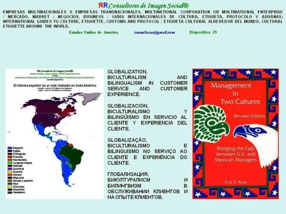 FERNANDO ANTONIO RUANO FAXAS. GLOBALIZATION, BICULTURALISM AND BILINGUALISM IN CUSTOMER SERVICE AND CUSTOMER EXPERIENCE. GLOBALIZACIÓN, BICULTURALISMO Y BILINGÜISMO EN SERVICIO AL CLIENTE Y EXPERIENCIA DEL CLIENTE.