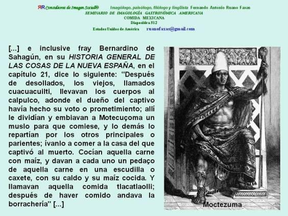 FERNANDO ANTONIO RUANO FAXAS. EL EMPERADOR DE MÉXICO MOCTEZUMA COMÍA CARNE HUMANA. ENDOFAGIA Y ENDOCANIBALISMO EN EL MÉXICO MODERNO