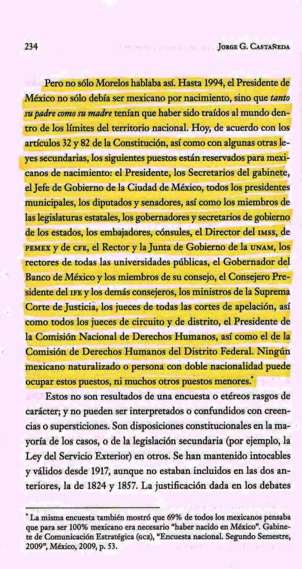 FERNANDO ANTONIO RUANO FAXAS. JORGE G. CASTAÑEDA GUTMAN Y SUS COMENTARIOS ACERCA DE LOS EXTRANJEROS EN MÉXICO