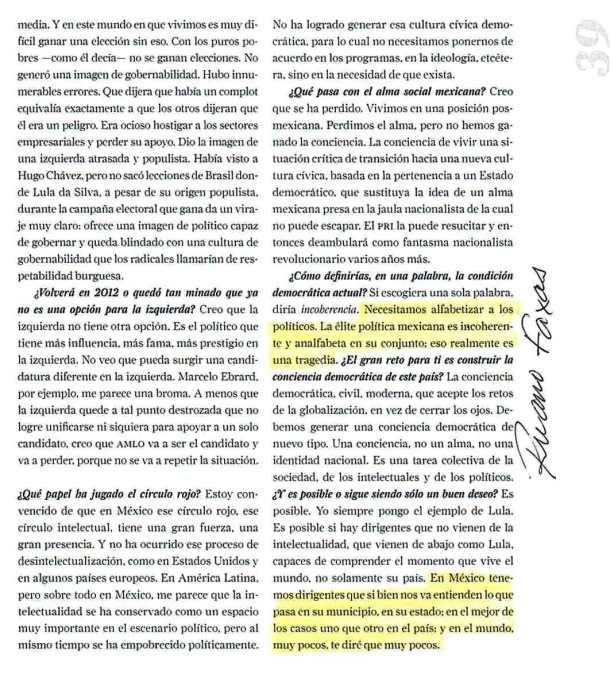 FERNANDO ANTONIO RUANO FAXAS. Los políticos mexicanos, ENTRE OTYRAS COSAS, son analfabetos funcionales. ROGER BARTRA