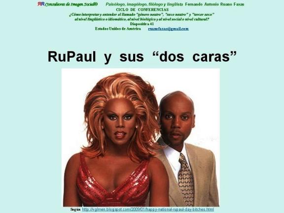 FERNANDO ANTONIO RUANO FAXAS. RuPaul Y SUS DOS CARAS