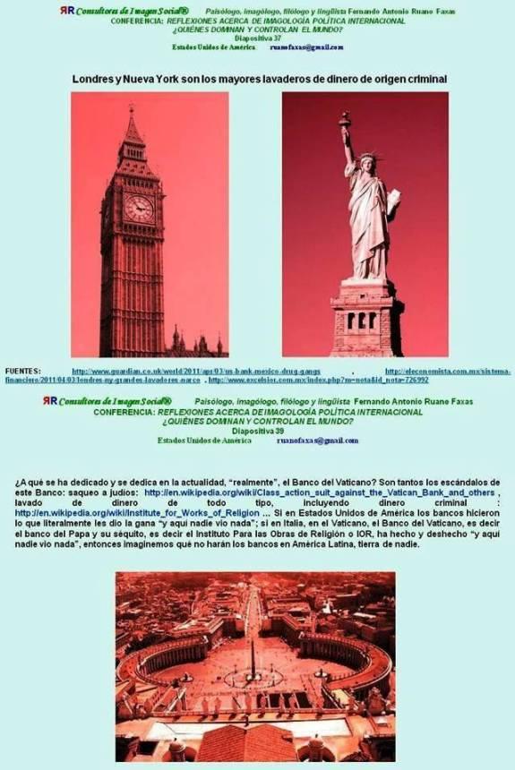 Fernando Antonio Ruano Faxas. Estados Unidos, Gran Bretaña. Vaticano, México, entre los más grandes en lavado de dinero
