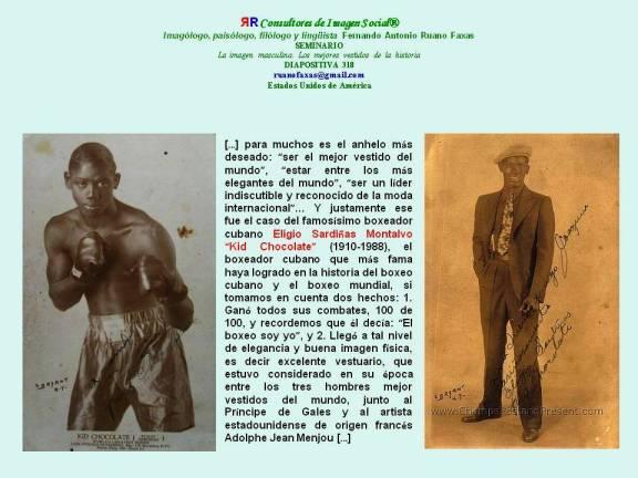 FERNANDO ANTONIO RUANO FAXAS. IMAGEN FÍSICA Y VESTUARIO. El boxeador cubano Eligio Sardiñas Montalvo KID CHOCOLATE (1910-1988)
