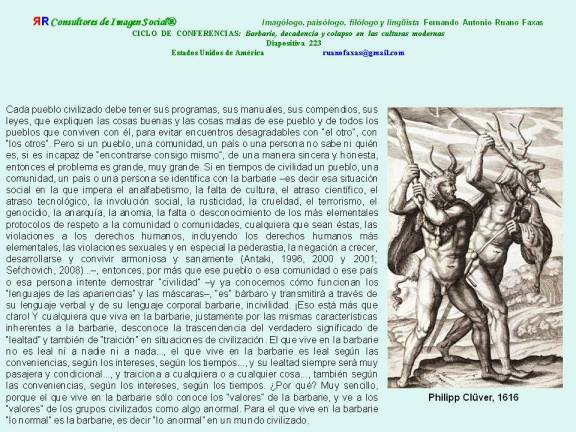 RUANO FAXAS. BARBARIE, DECADENCIA Y COLAPSO