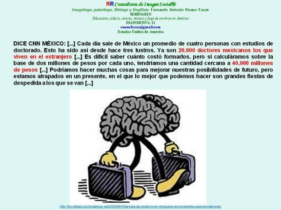 RUANO FAXAS. FUGA DE CEREBROS EN MÉXICO