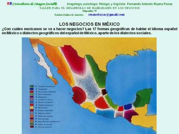 FERNANDO ANTONIO RUANO FAXAS. DIALECTOS DEL ESPAÑOL DE MÉXICO. BUSINESS IN MEXICO. NEGOCIOS EN MÉXICO