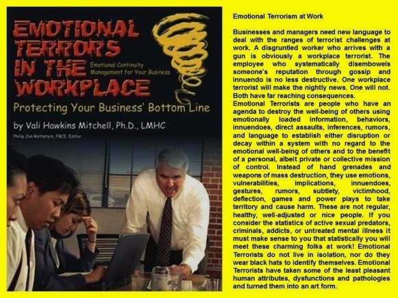 FERNANDO ANTONIO RUANO FAXAS. Emotional Terrorism at Work, Terrorismo emociomnal en el trabajo. Labor Terrorism, Terrorismo Laboral