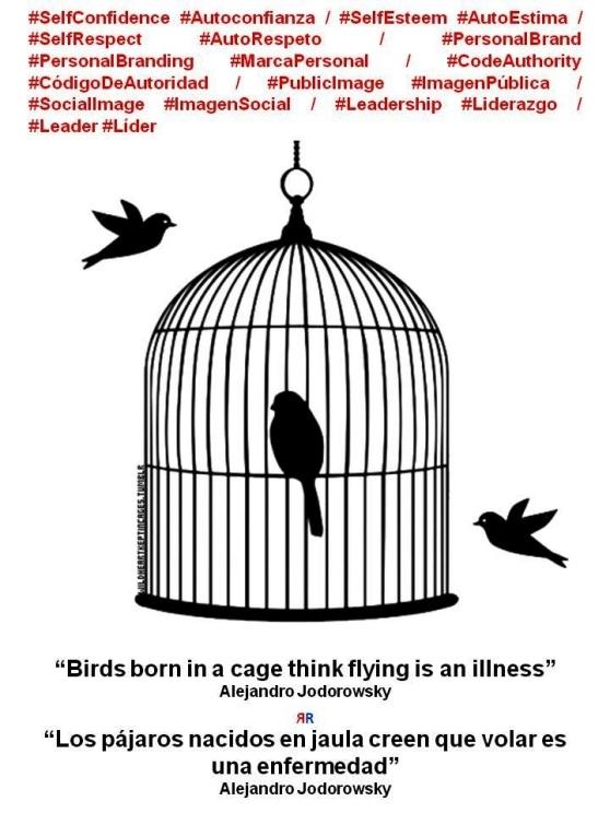 FERNANDO ANTONIO RUANO FAXAS, PAULINA RENDÓN AGUILAR. Alejandro Jodorowsky. Birds born in a cage think flying is an illness. Los pájaros nacidos en jaula creen que volar es una enfermedad. Imagología, imagology