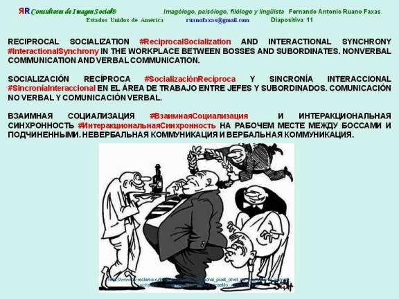 FERNANDO ANTONIO RUANO FAXAS. Reciprocal Socialization, Socialización Recíproca, Взаимная Социализация. Interactional Synchrony, Sincronía Interaccional, Интеракциональная Синхронность