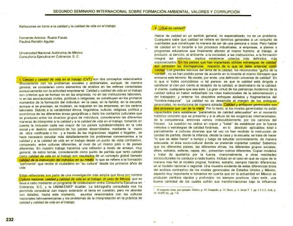 FERNANDO ANTONIO RUANO FAXAS Y PAULINA RENDÓN AGUILAR. Calidad, Quality, Qualidade, Качество (2)
