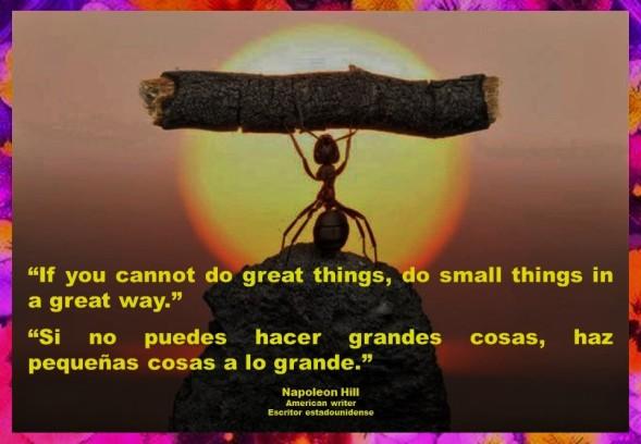 IMAGOLOGÍA, FERNANDO ANTONIO RUANO FAXAS. If you cannot do great things, do small things in a great way. Si no puedes hacer grandes cosas, haz pequeñas cosas a lo grande. Napoleon Hill