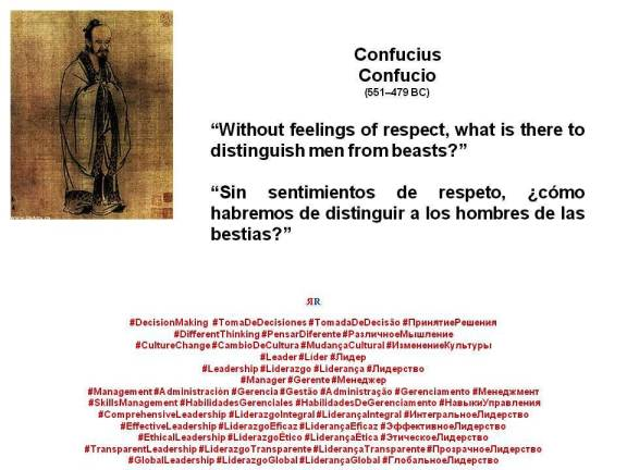 PAULINA RENDÓN AGUILAR. Confucius, Confucio. Without feelings of respect, what is there to distinguish men from beasts