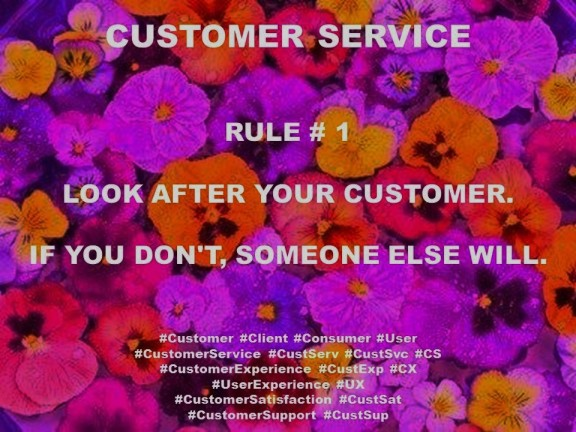 PAULINA RENDON AGUILAR. CUSTOMER SERVICE, CUSTOMER EXPERIENCE, USER EXPERIENCE. RULE 1. LOOK AFTER YOUR CUSTOMER. IF YOU DON'T, SOMEONE ELSE WILL.
