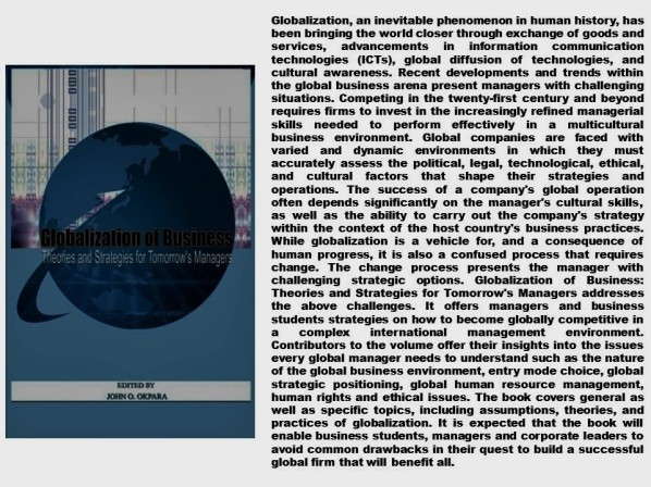 PAULINA RENDON AGUILAR. GLOBALIZATION, BUSINESS, SALES, CUSTOMER SERVICES. Globalisation of Business. Theories and Strategies for Tomorrow's Managers
