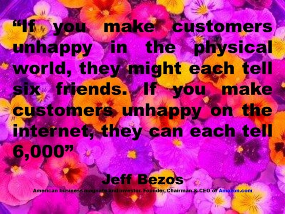 PAULINA RENDON AGUILAR, IBM, KENNAMETAL, JCPENNEY. Jeff Bezos, Customer, Client, Consumer, User, Internet, Social Media, Social Network, Marketing, Advertising, Customer Experience, Service, Satisfaction, User Experience