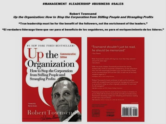 Robert Chase Townsend. Management, Leadership, Business, Sales. True leadership must be for the benefit of the followers, not the enrichment of the leaders