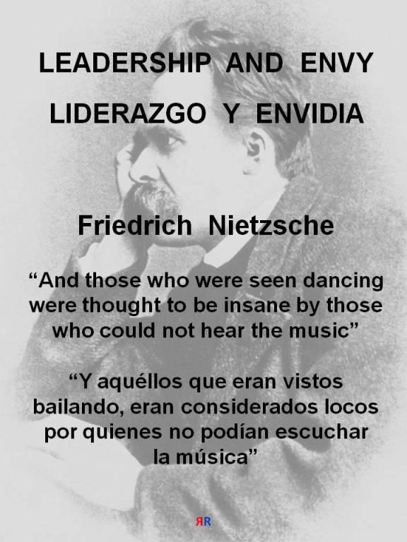 RUANO FAXAS. Nietzsche. And those who were seen dancing were thought to be insane by those who could not hear the music. Y aquéllos que eran vistos bailando, eran considerados locos por quienes no podían escuchar la música
