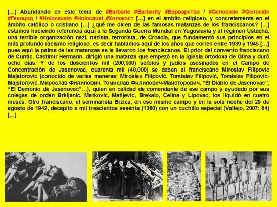 FERNANDO ANTONIO RUANO FAXAS. IMAGOLOGIA. Barbarie, Barbarity, Варварство. Genocidio, Genocide, Геноцид. Holocausto, Holocaust, Холокост