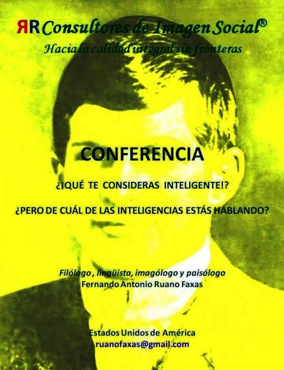FERNANDO ANTONIO RUANO FAXAS. INTELIGENCIA, INTELLIGENCE, ИНТЕЛЛЕКТ. LAS INTELIGENCIAS MÚLTIPLES