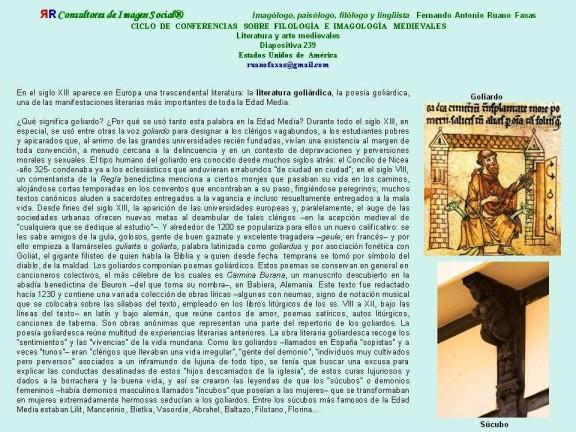 FERNANDO ANTONIO RUANO FAXAS. LOS GOLIARDOS EN LA HISTORIA DEL ARTE Y LA LITERATURA