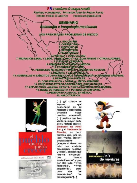 FERNANDO ANTONIO RUANO FAXAS. LOS PRINCIPALES Y TERRIBLES PROBLEMAS DE MÉXICO