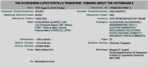 FERNANDO ANTONIO RUANO FAXAS. LUIS ECHEVERRIA PRESIDENTE DE MÉXICO PLANEABA MATAR A JOSÉ LÓPEZ PORTILLO. TRAICIONES, ENDOFAGIA Y ENDOCANIBALISMO EN MÉXICO Y ENTRE LOS MEXICANOS.