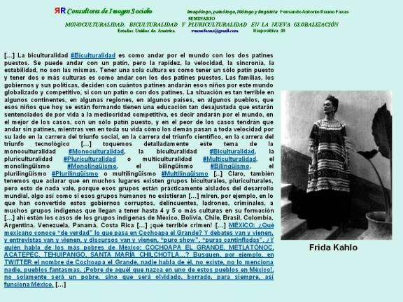 FERNANDO ANTONIO RUANO FAXAS. MONOCULTURALIDAD, BICULTURALIDAD Y PLURICULTURALIDAD EN LA NUEVA GLOBALIZACIÓN
