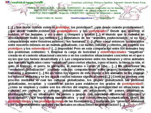 FERNANDO ANTONIO RUANO FAXAS. PERCEPTION, INSTINCTS AND STEREOTYPES. PERCEPCIÓN, INSTINTOS Y ESTEREOTIPOS. PROTOTIPO, PROTOTYPE, ПРОТОТИП. ESTEREOTIPO, STEREOTYPE, СТЕРЕОТИП