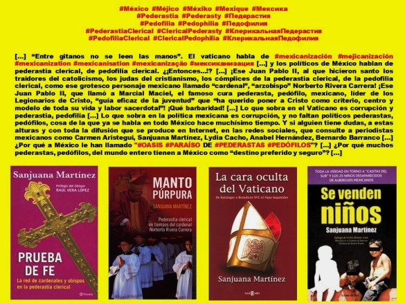IMAGOLOGÍA, PAISOLOGÍA. México, Méjico, Mexiko, Mexique, Мексика. Pederastia, Pederasty, Педерастия. Pedofilia, Pedophilia, Педофилия
