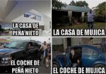 CASA Y COCHE DE PEÑA NIETO, MÉXICO. CASA Y COCHE DE MUJICA,URUGUAY
