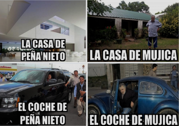 CASA Y COCHE DE PEÑA NIETO, MÉXICO. CASA Y COCHE DE MUJICA, URUGUAY
