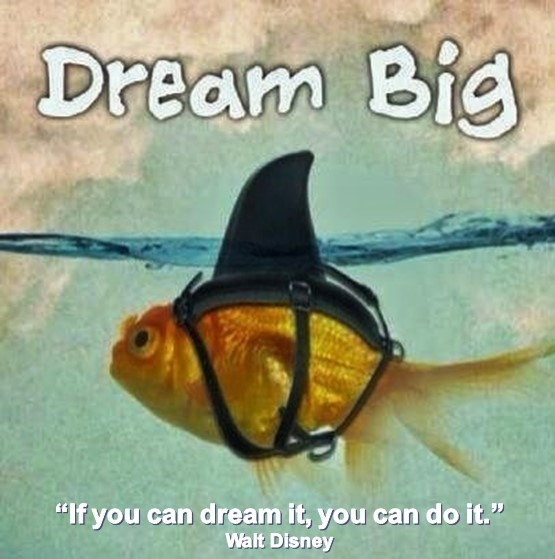 DREAM BIG. Walt Disney. If you can dream it, you can do it.