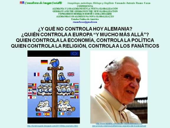 FERNANDO ANTONIO RUANO FAXAS. ALEMANIA, NUEVA GLOBALIZACIÓN, ECONOMÍA, BENEDICTO XVI. PIGS (PORTUGAL, ITALIA, GRECIA, ESPAÑA)