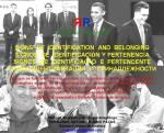 FERNANDO ANTONIO RUANO FAXAS. CONFERENCIA. SIGNS OF IDENTIFICATION AND BELONGING. SIGNOS DE IDENTIFICACIÓN Y PERTENENCIA. SIGNOS DE IDENTIFICAÇÃO EPERTENCENTE
