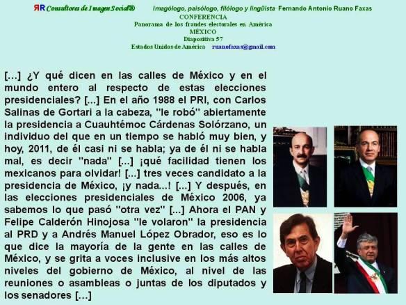 FERNANDO ANTONIO RUANO FAXAS. FRAUDE ELECTORAL EN MÉXICO, SALINAS, CALDERÓN, CÁRDENAS, LÓPEZ OBRADOR. ELECCIONES EN MÉXICO. CORRUPCIÓN
