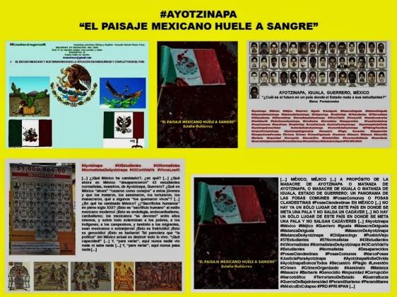 FERNANDO ANTONIO RUANO FAXAS. IMAGOLOGÍA. AYOTZINAPA, IGUALA, GUERRERO, MÉXICO, ESCUDO MEXICANO, CORRUPCIÓN, IMPUNIDAD, SECUESTROS, CRÍEMENES, NARCOTRÁFICO