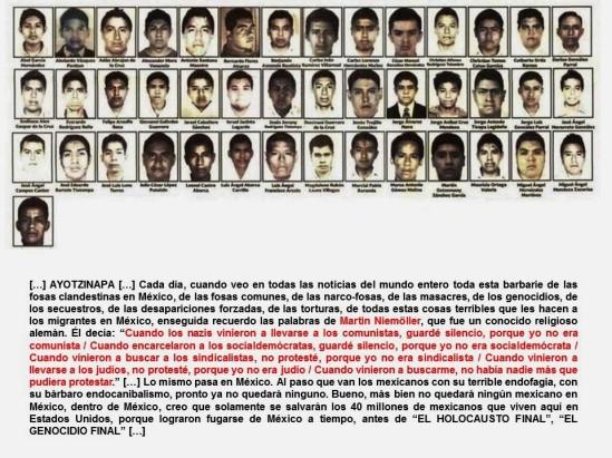 FERNANDO ANTONIO RUANO FAXAS. IMAGOLOGÍA. MÉXICO, AYOTZINAPA, IGUALA, GUERRERO, CORRUPCIÓN, IMPUNIDAD, BARBARIE, GENOCIDIO