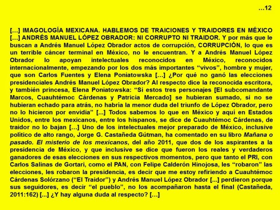 FERNANDO ANTONIO RUANO FAXAS. IMAGOLOGÍA. Traiciones y traidores en México. Andrés Manuel López Obrador, ni corrupto ni traidor