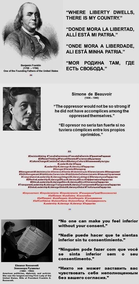 FERNANDO ANTONIO RUANO FAXAS. LIBERTAD, DERECHOS HUMANOS, ELECCIONES, DEMOCRACIA, POLÍTICA, POLÍTICOS. Franklin, Simone de Beauvoir, Roosevelt