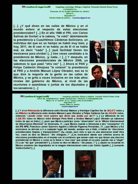 FERNANDO ANTONIO RUANO FAXAS. POR QUÉ PERDIERON LAS ELECCIONES PRESIDENCIALES CUAUHTÉMOC CÁRDENAS Y ANDRÉS MANUEL LÓPEZ OBRADOR, AMLO. PORQUÉ MÉXICO LOS ABANDONÓ AL FINAL