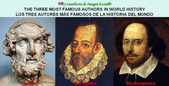 FERNANDO ANTONIO RUANO FAXAS. THE THREE MOST FAMOUS AUTHORS IN WORLD HISTORY. LOS TRES AUTORES MÁS FAMOSOS DE LA HISTORIA DEL MUNDO. LITERATURA, LITERATURE, ЛИТЕРАТУРА.