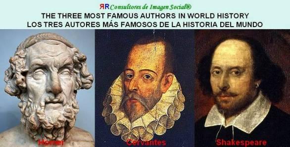 FERNANDO ANTONIO RUANO FAXAS. THE THREE MOST FAMOUS AUTHORS IN WORLD HISTORY. LOS TRES AUTORES MÁS FAMOSOS DE LA HISTORIA DEL MUNDO. LITERATURA, LITERATURE, ЛИТЕРАТУРА.