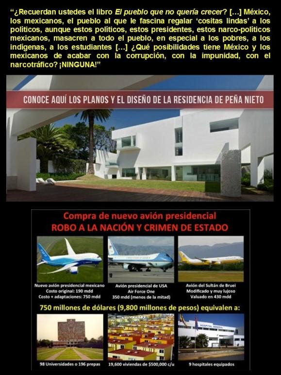 IMAGALOGÍA, PAISOLOGÍA. México, mexicanos, EL PUEBLO QUE NO QUERÍA CRECER, IKRAM ANTAKI. Casa de Peña Nieto, avión de Peña Nieto, Ayotzinapa