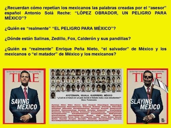 IMAGOLOGÍA, MÉXICO. LÓPEZ OBRADOR, UN PELIGRO PARA MÉXICO. PEÑA NIETO EL SALVADOR DE MÉXICO. POLÍTICA, ELECCIONES, CORRUPCIÓN, IMPUNIDAD, AYOTZINAPA
